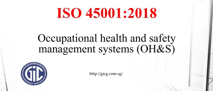 GIC Singapore - Launch of ISO 45001:2018 for Occupational ...